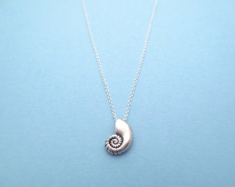 Ariel, Voice, Sterling silver, Chain, Seashell, Antique, Necklace, Ariel, Shell, Jewelry, Birthday, Friendship, Mom, Sister, Gift, Jewelry