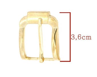 Gold plated buckle gold model C: 36x29mm