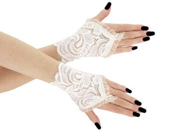 Ivory bridal gloves wedding gloves bridal fingerless gloves lace bridal gloves bridal gloves lace gloves lace gloves ivory 05P1