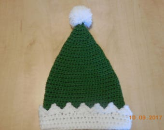 Baby elf hat, crocheted baby elf hat, elf hat, baby hat, crocheted baby hat, crocheted elf hat