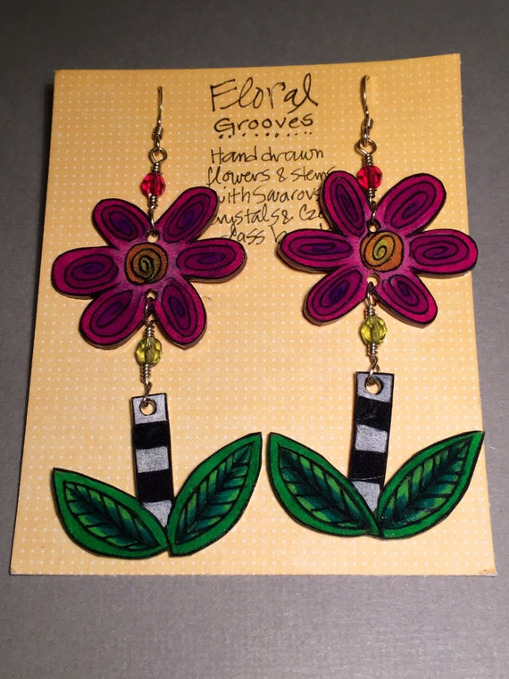 "Earrings ""Floral Grooves"""