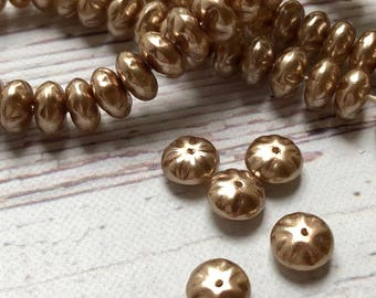 6mm Cocoa Pearl Spacer Beads, 100 pcs