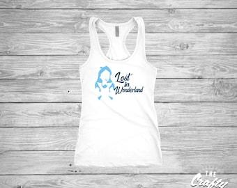 Lost in Wonderland (ALL GLITTER) shirt, Alice in Wonderland, Alice Shirts, Disney Family Shirts, Matching Shirts, Disney Shirts, Ladies