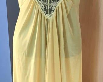Long Yellow Nightgown