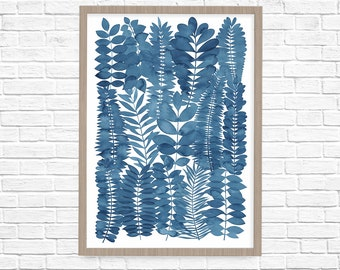 Giclee Indigo Garden Fine Art Print
