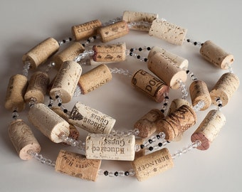 Christmas Garland, Wine Cork Garland, Wine Cork Crafts, Rustic Wedding Decor, Wholesale, Wine Cork Wreath