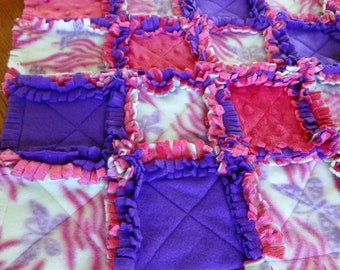CLEARANCE*** Pink and purple rag quilt