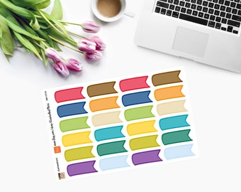 Page Flags Planner Stickers in EC Monthly Colours CAM00099
