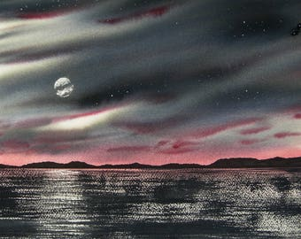 The Illumination of Destination WATERCOLOR painting