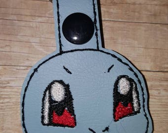 Squirtle Pokemon inspired keychain/snaptab or Zipper charm