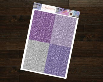Galaxy Blogger Collection Glitter Headers || 130+ Planner Stickers