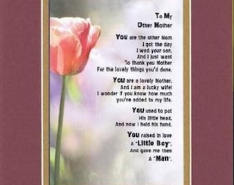 Mother in law poem | Etsy