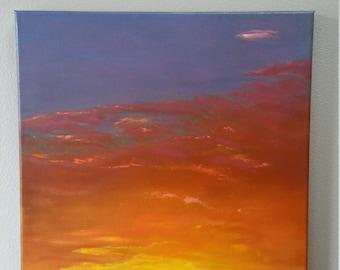 "Sunset Serenade Original Oil Painting 16"" x 20"""