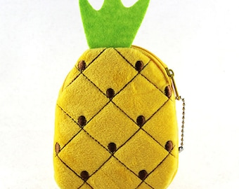 Cute Fruit Shaped Mini Coin Key Pouch Wallet Zipper Closure Accessory - Choose your Style