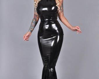 """Latex dress """"Morticia"""""""