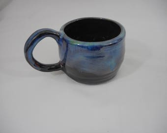 Variegated Stoneware Ceramic Mug, Handmade Pottery, Hand Painted, Hand Thrown, Drinkware, Coffee, Tea, Cup, Gift (C0025)