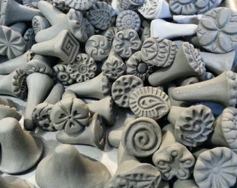 Handmade Clay stamps for pottery, polymer, PMC, fondant and more.... *PLEASE carefully read listing description*