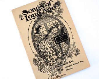 1900  - 1904 Songs of Long Ago Songbook