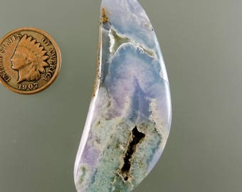 Smithsonite Cabochon, Translucent Smithsonite Cab, Pink Blue Green Smithsonite, Pendant Cab, Gift Cab, C2448, Handcrafted by 49erMinerals