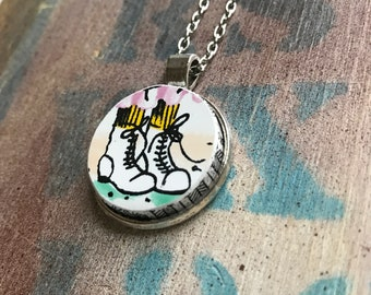 Boots Broken Dishware Necklace