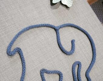 My elephant knitting