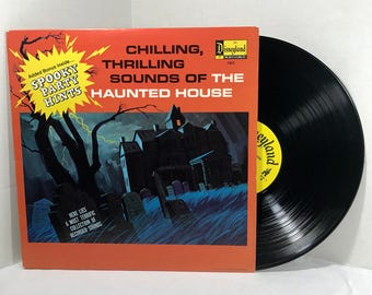 Disney's Chilling Thrilling Sounds Of The Haunted House vinyl record 1974 VG Halloween Party, Disneyland Records