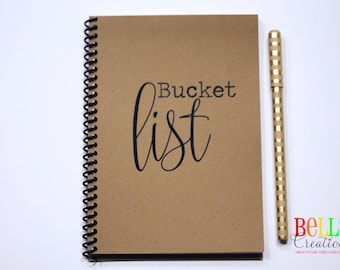 Bucket List Kraft Blank Journal