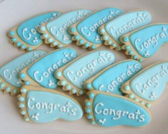 BABY FEET Cookies - Personalized Baby Feet Cookies -1 Dozen