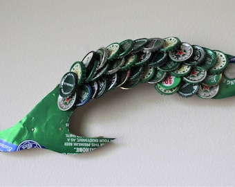 Rolling Rock Bottle Cap Flying Fish