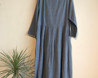 Blue Selvedge dress,Handwoven dress, Made in India,Hand made,Cotton