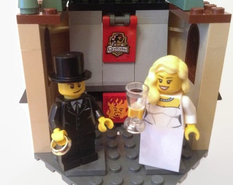 Lego Harry Potter Wedding Cake Topper Featuring Gryffindor Common Room Hogwarts Customised