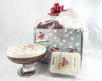 Peppermint Bark Pudding Candle & Wax Melt Gift Set