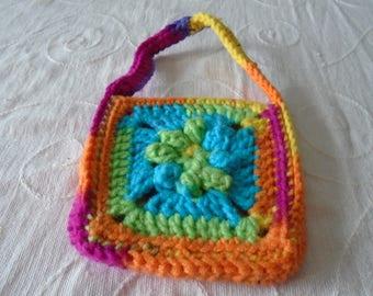 Little Flower Granny Square Bag for Little People
