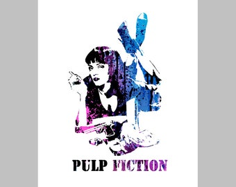 Instant download PULP FICTION, printable, poster w00307