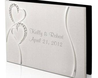 Engraved Rhinestone Hearts Photo Album