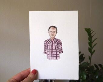 Checkered shirt traveller-original artwork
