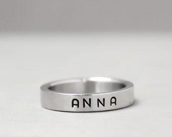 Personalized Stainless Steel Name Ring