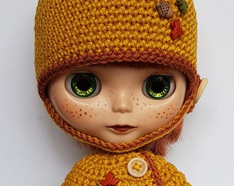 Blythe Hat and Cape Little Fox