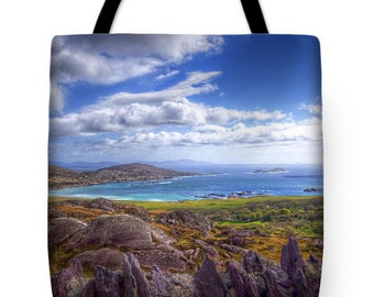 """Ring of Kerry """"Lady's View"""" Ireland Tote Bag"""
