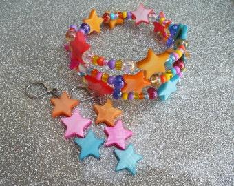 Summer Stars - Earring & Bracelet Set