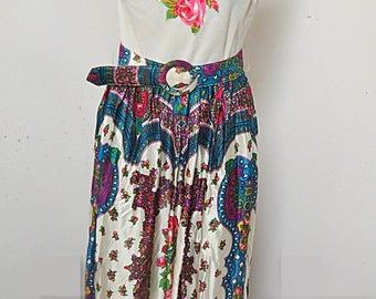 Hippie Flower Power Boho Maxie Dress  #305