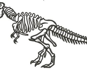 Realistic Dinosaur Skeleton Machine Embroidery Designs