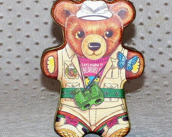 Let's Make It Bearable Collectible Tin/  Safari Bear Tin/Nature Bear Tin