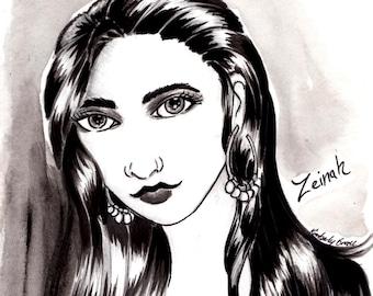 Zeinah Art Print