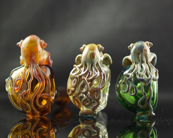 Cuttlefish Large Glass Spoon Pipe in Your Choice of Color