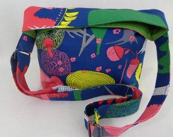 Cross Body BAG, Shoulder Purse, Sling BAG, Small Diaper Bag, Fun Purse, IKEA, Blue, Pink, Old Shoe