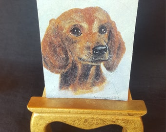 Hand Painted Dachshund Picture