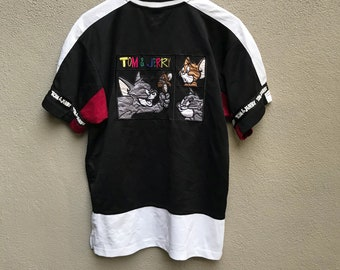 Vintage 90s TOM and JERRY embroidered cartoons jersey