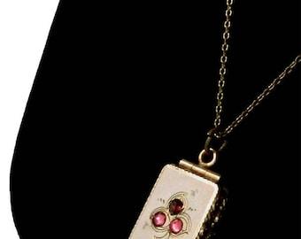 Antique Gold Filled Locket Pendant Necklace