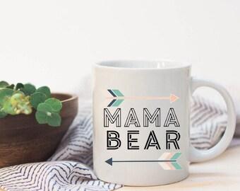 mama bear mug|mom coffee mug|mom gift